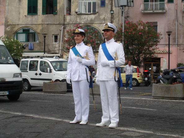 Cerimonia di insediamento del T.V Flavia La Spada al comando del Circomare Procida