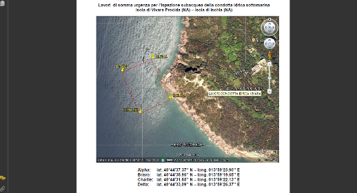 Perdita di acqua nella condotta sottomarina a Vivara: La CP interdisce la navigazione