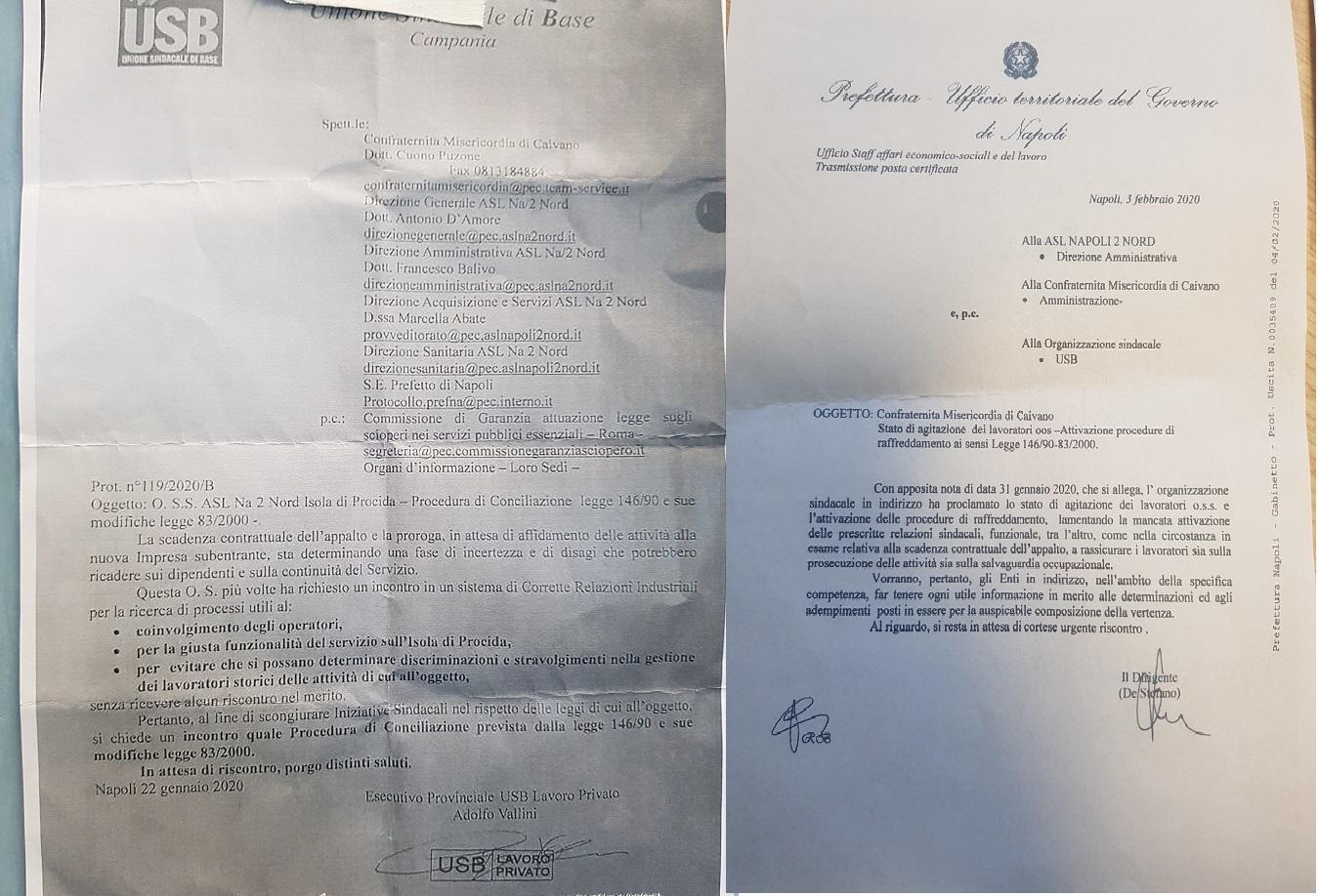 O.S.S. DELL'OSPEDALE  IN STATO DI AGITAZIONE